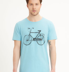 Organication T-SHIRT VINTAGE BIKE BLUE