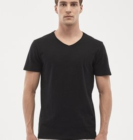 Organication T-SHIRT V-NECK BLACK