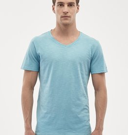 Organication T-SHIRT V-NECK BLUE