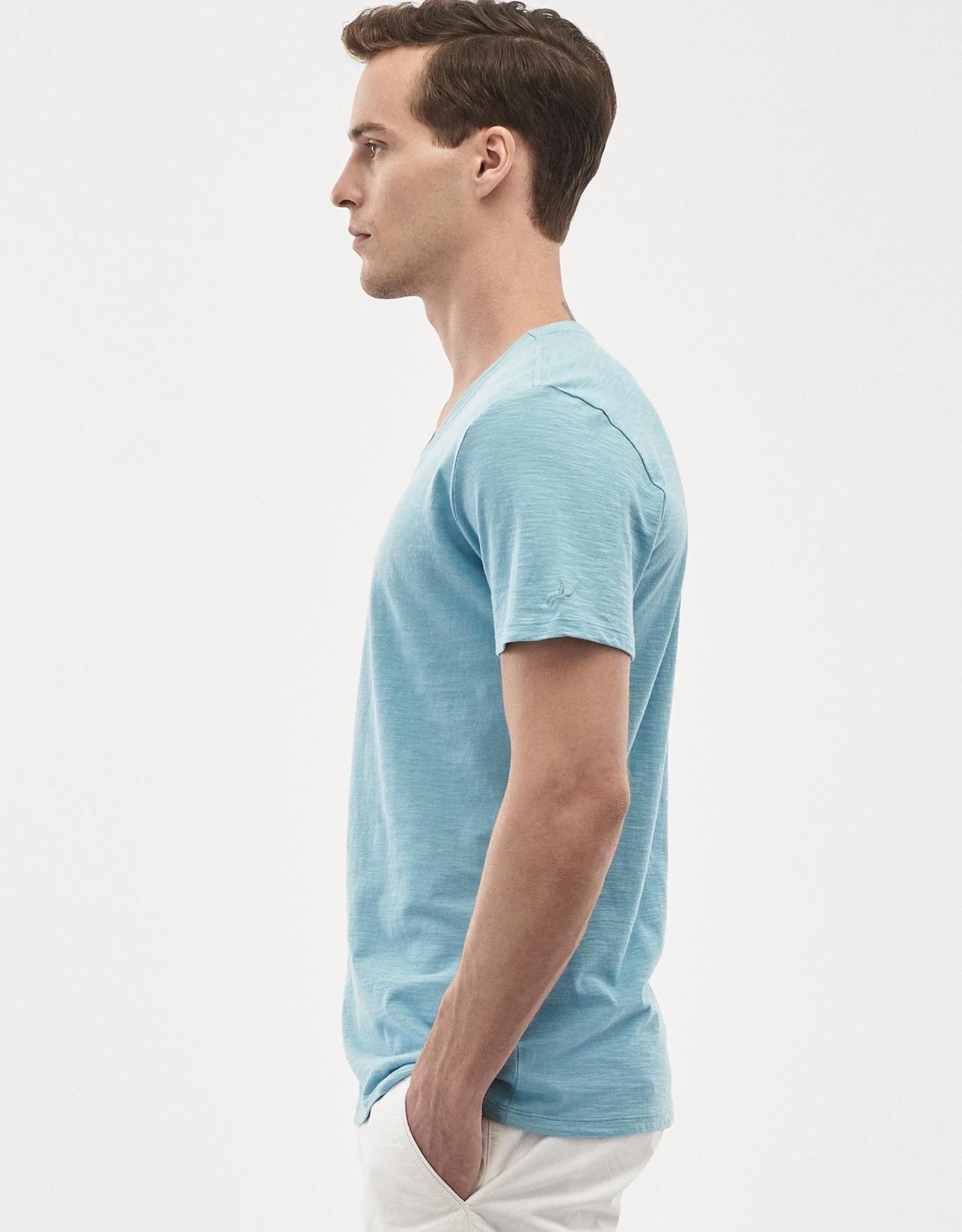 Organication T-SHIRT V-NECK BLUE