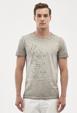 Organication T-SHIRT UNIQUE GARMENT DYED PRINT GREY