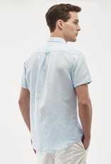 Organication HEMD SHORT SLEEVE BLUE