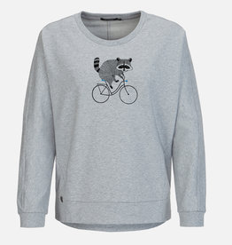Greenbomb SWEATSHIRT BIKE RACCOON