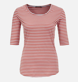 Greenbomb T-SHIRT 1/2 SLEEVE RED STRIPES