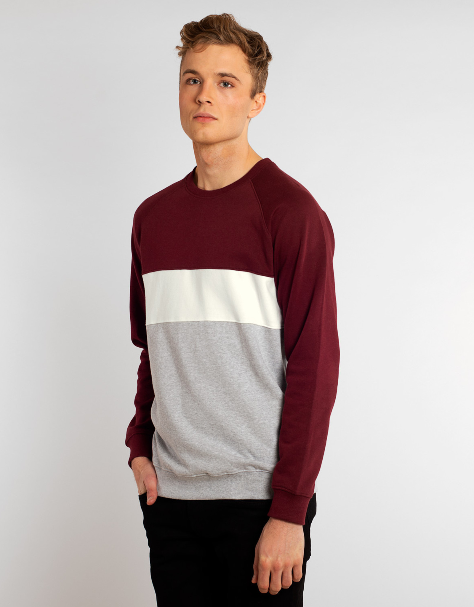 Dedicated SWEATSHIRT STRIPE BORDEAUX MALMOE
