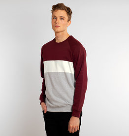 Dedicated SWEATSHIRT STRIPE BORDEAUX