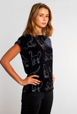 Dedicated T-SHIRT CAT LINES BLACK VISBY