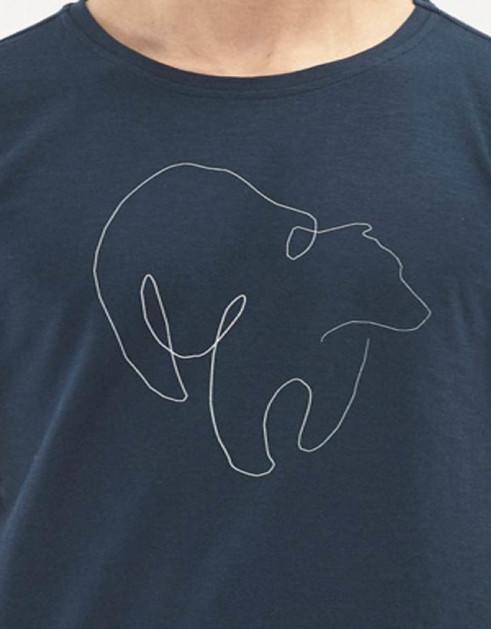 Organication T-SHIRT BEAR PRINT NAVY