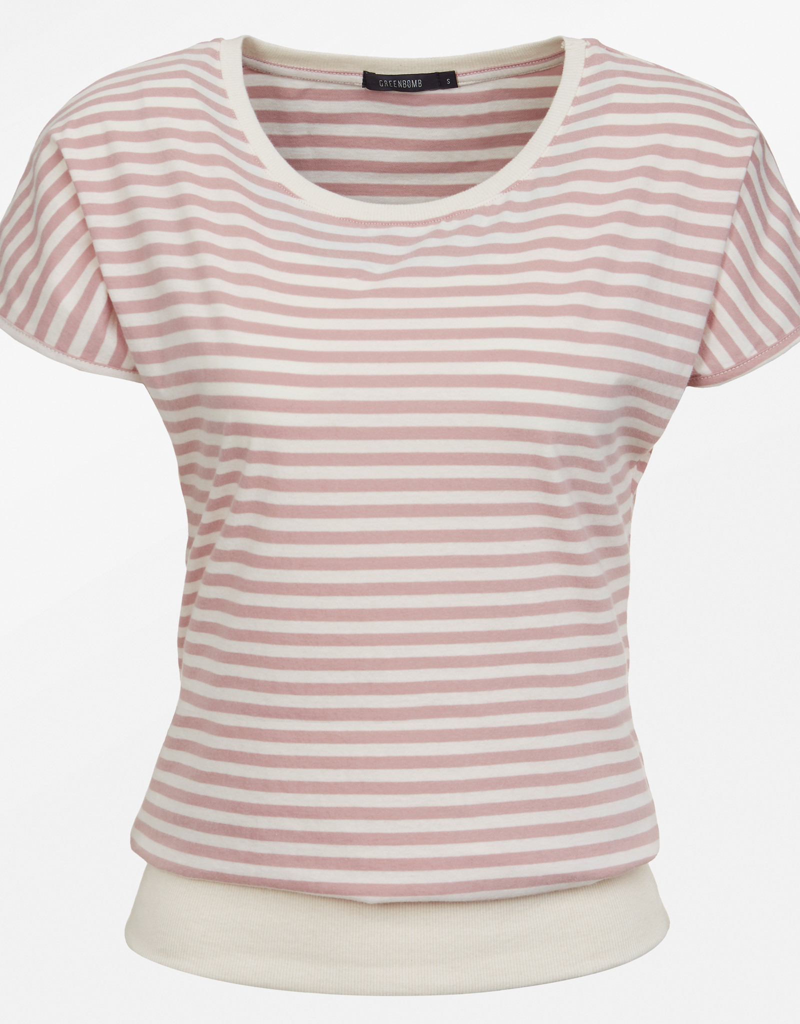Greenbomb T-SHIRT ROSE STRIPES