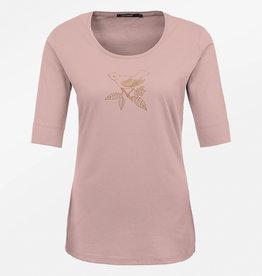 Greenbomb T-SHIRT GOLD BIRD ROSE