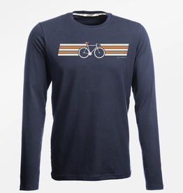 Greenbomb T-SHIRT BIKE WING LONGSLEEVE NAVY