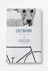 Greenbomb THEEDOEK BIKE DOG HANDGEDRUKT