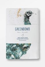 Greenbomb THEEDOEK PAUW HANDGEDRUKT