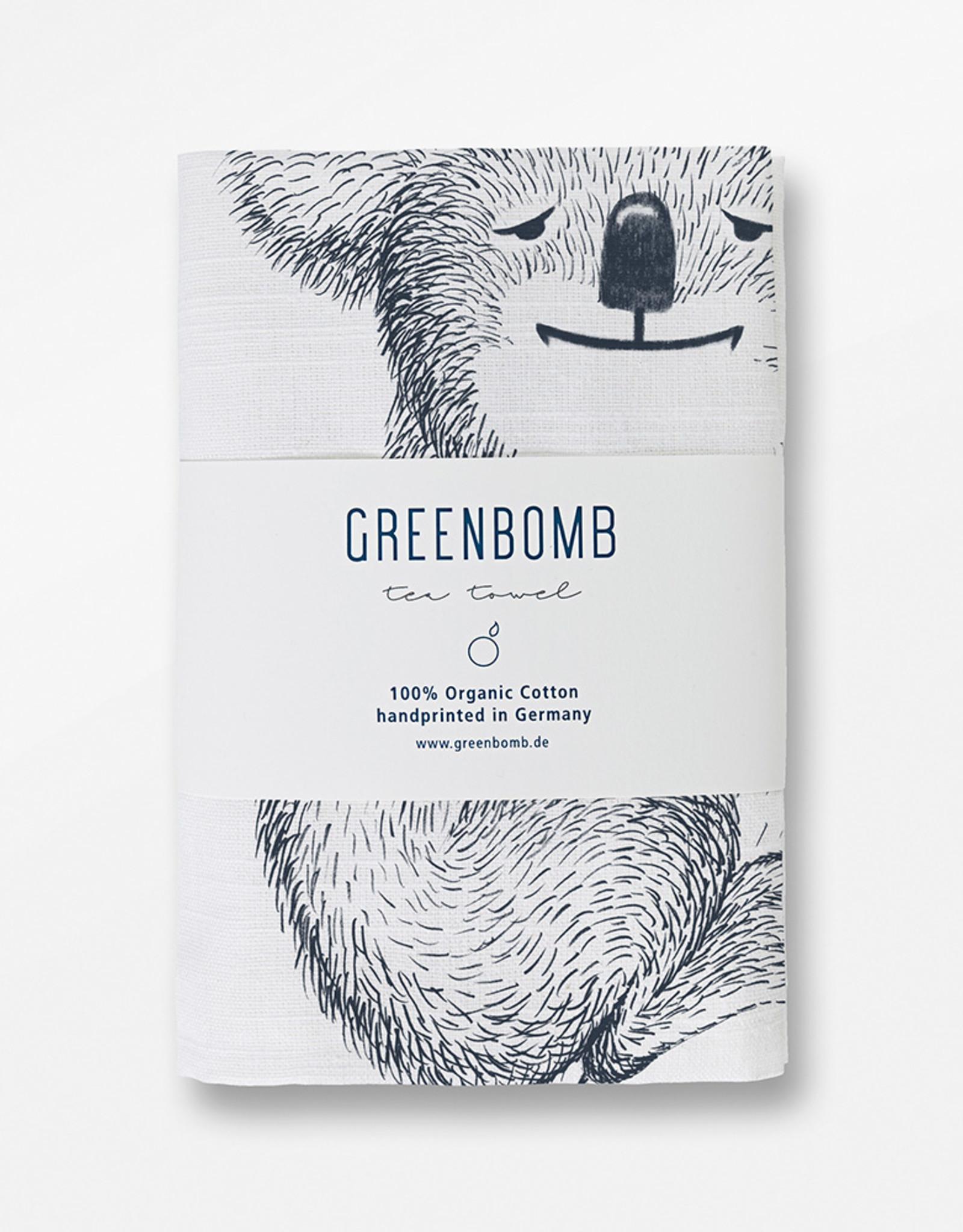 Greenbomb THEEDOEK KOALA HANDGEDRUKT