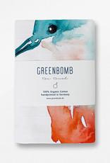 Greenbomb THEEDOEK KINGFISHER HANDGEDRUKT