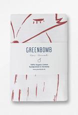 Greenbomb THEEDOEK FOX HANDGEDRUKT