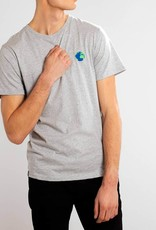 Dedicated T-SHIRT GLOBE EMBLEEM GREY MELANGE STOCKHOLM