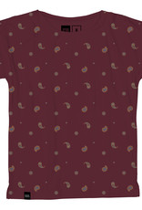Dedicated T-SHIRT PAISLEY BORDEAUX