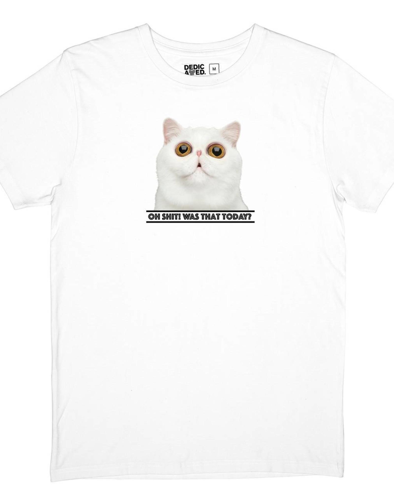 Dedicated T-SHIRT OH SH*T CAT WHITE