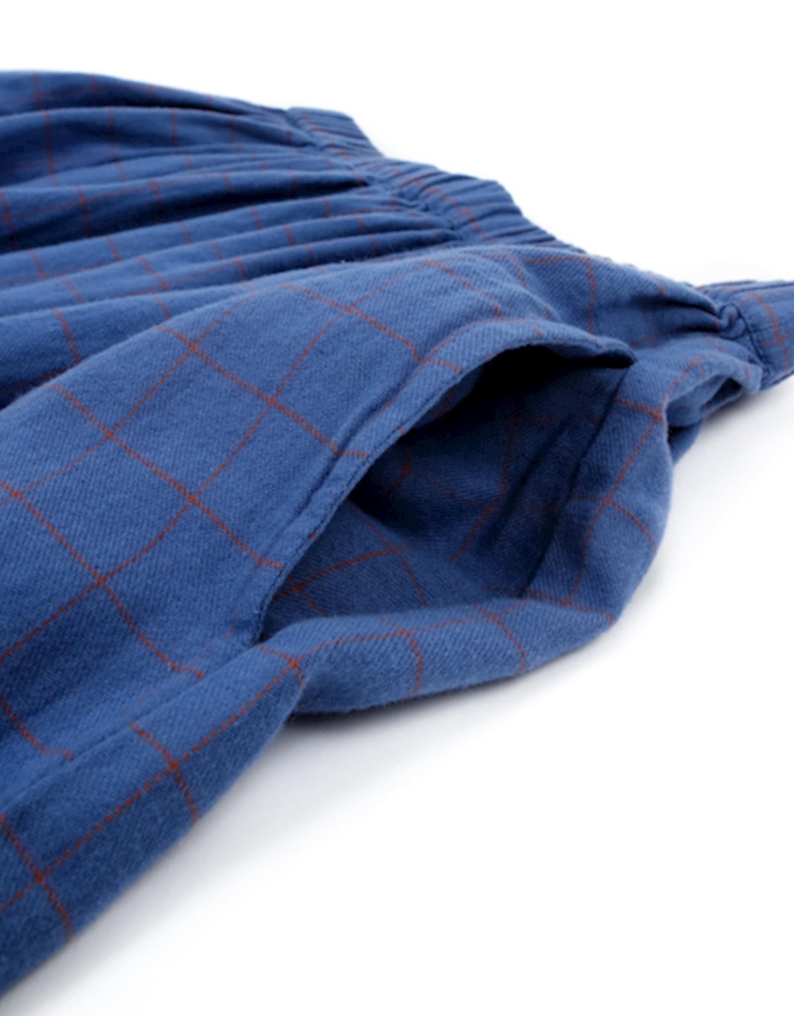 Lily-Balou Women LANGE ROK GRID BLUE