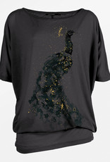 Greenbomb T-SHIRT PAUW GOLD SPARKLE PRINT SEAGREY