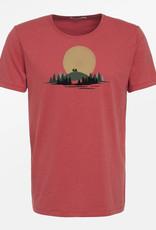 Greenbomb T-SHIRT NATURE CARAVAN SUN RED
