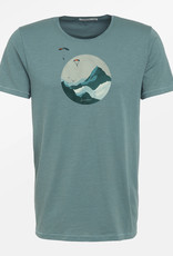 Greenbomb T-SHIRT NATURE SKY DIVER BLUE