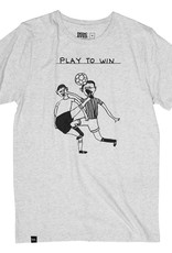 Dedicated T-SHIRT PLAY TO WIN, GREY MELANGE