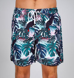 ZWEMSHORT TROPICAL GREEN