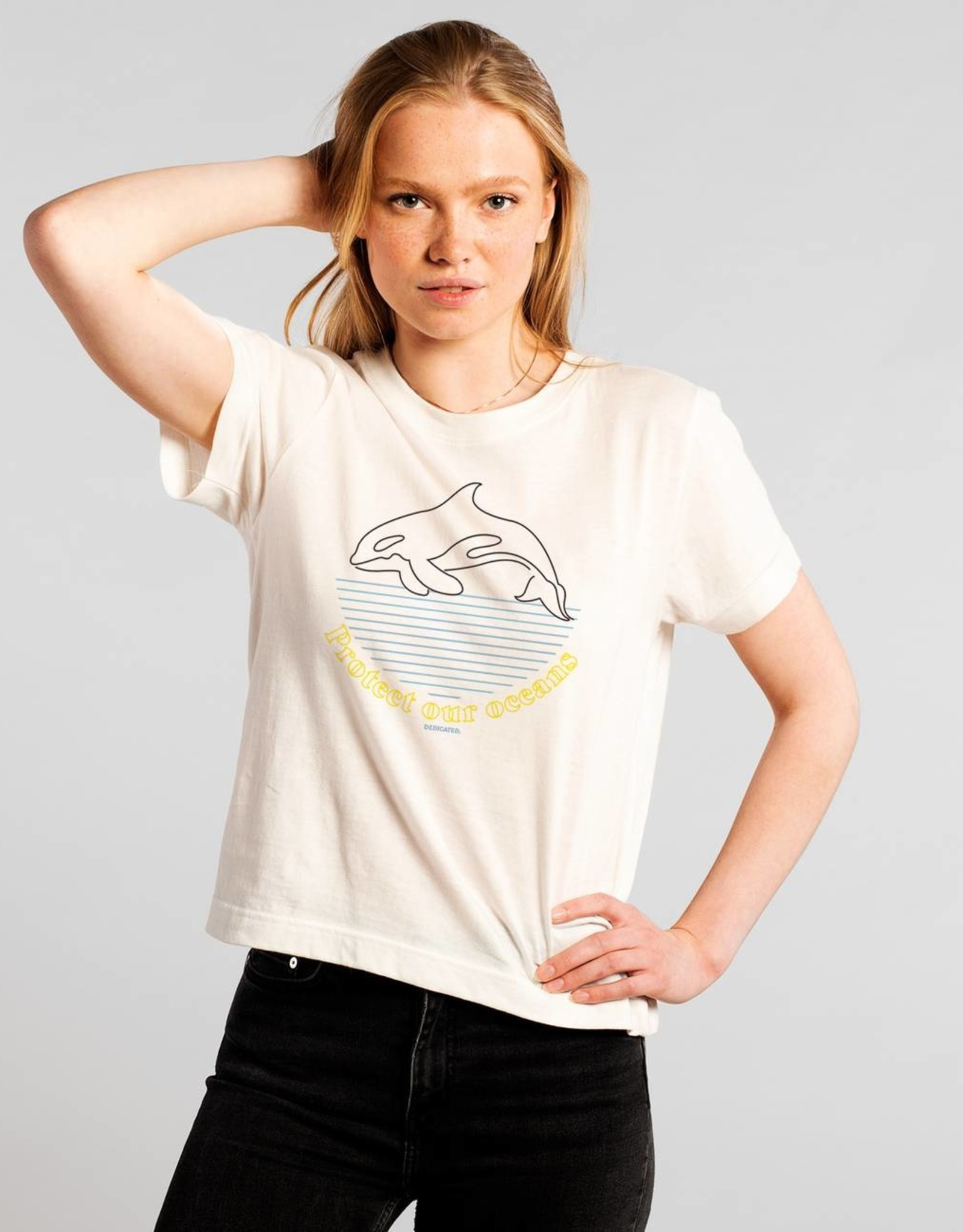 Dedicated T-SHIRT PROTECT OUR OCEANS WHITE
