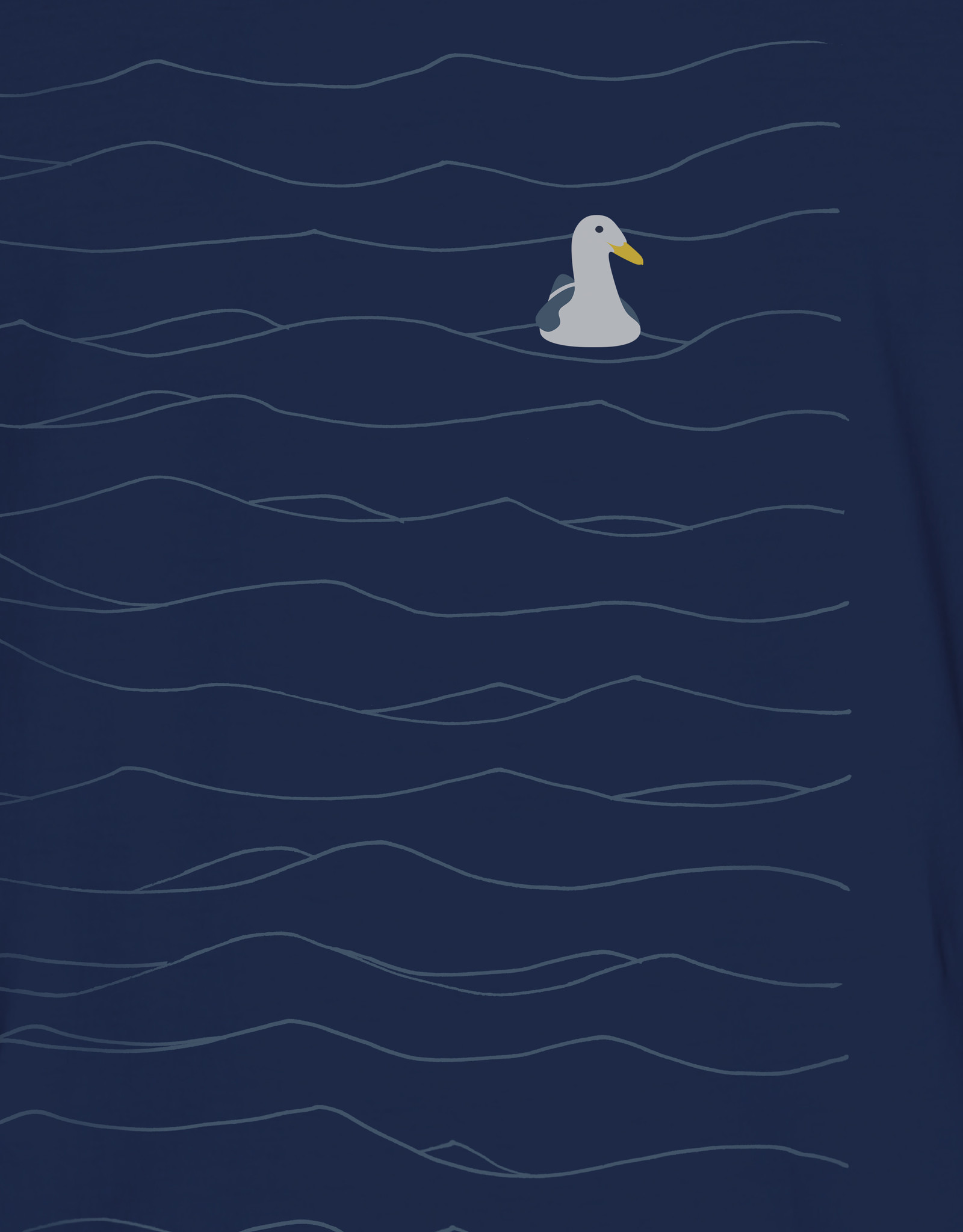 Greenbomb T-SHIRT WAVES SEAGULL