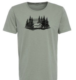 Greenbomb T-SHIRT NATURE CAMP MOUNTAINS