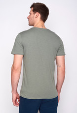Greenbomb T-SHIRT NATURE CAMP MOUNTAINS OLIVE