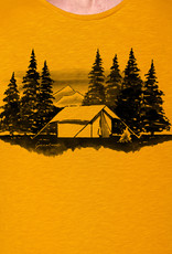 Greenbomb T-SHIRT NATURE CAMP MOUNTAINS OKER