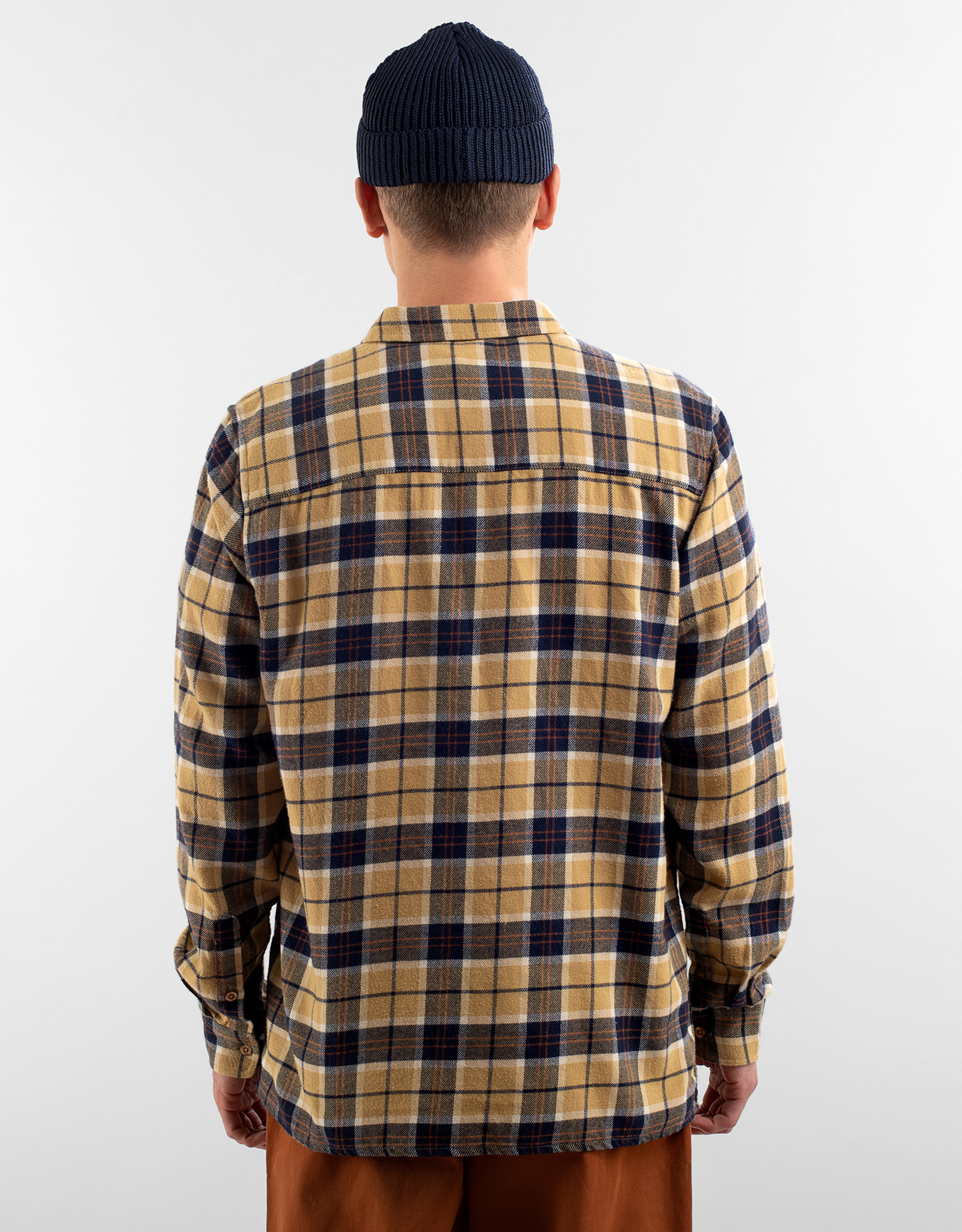 Dedicated GERUIT HEMD FLANNEL BEIGE
