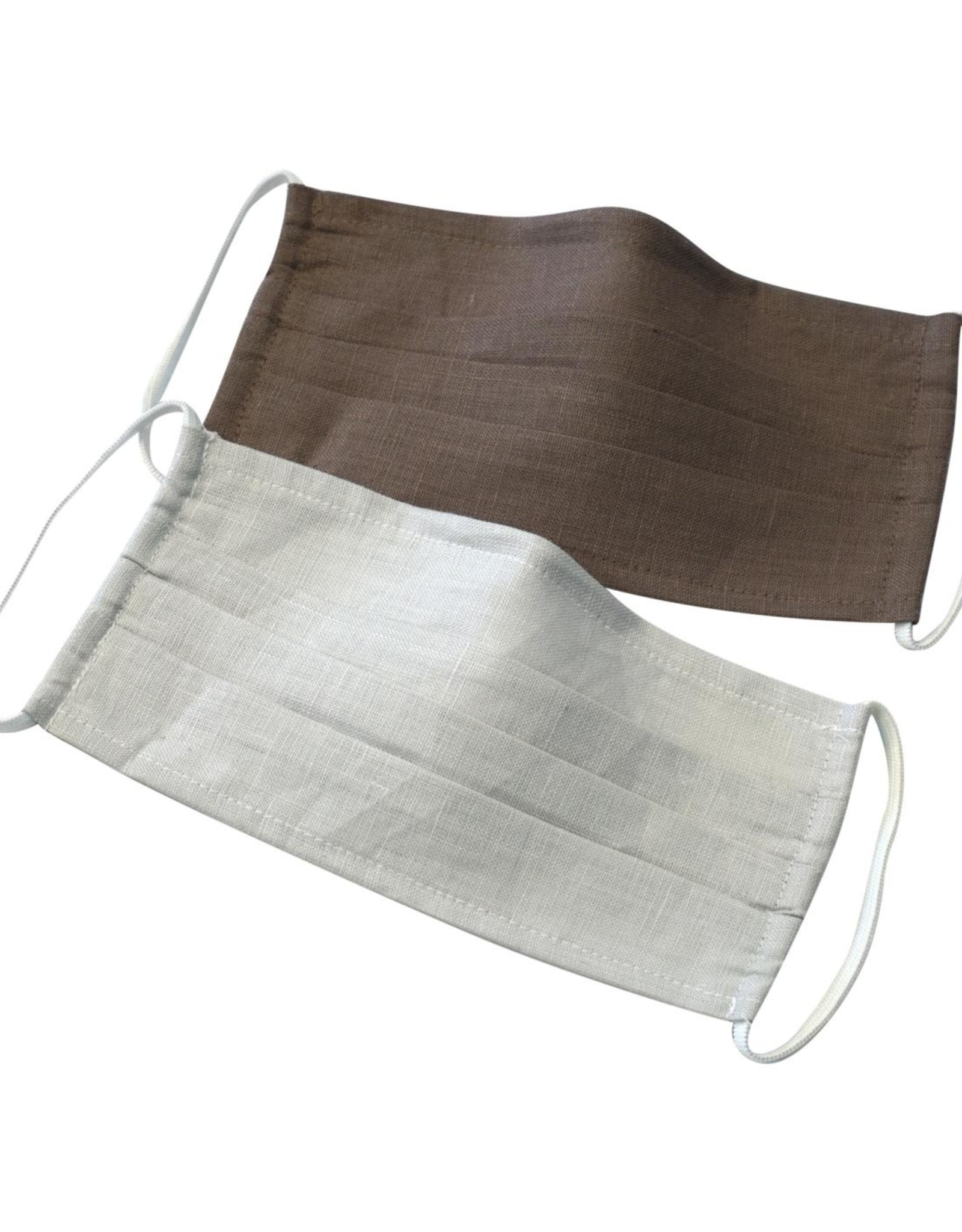 Living Crafts DUO LINNEN MONDMASKERS TAUPE
