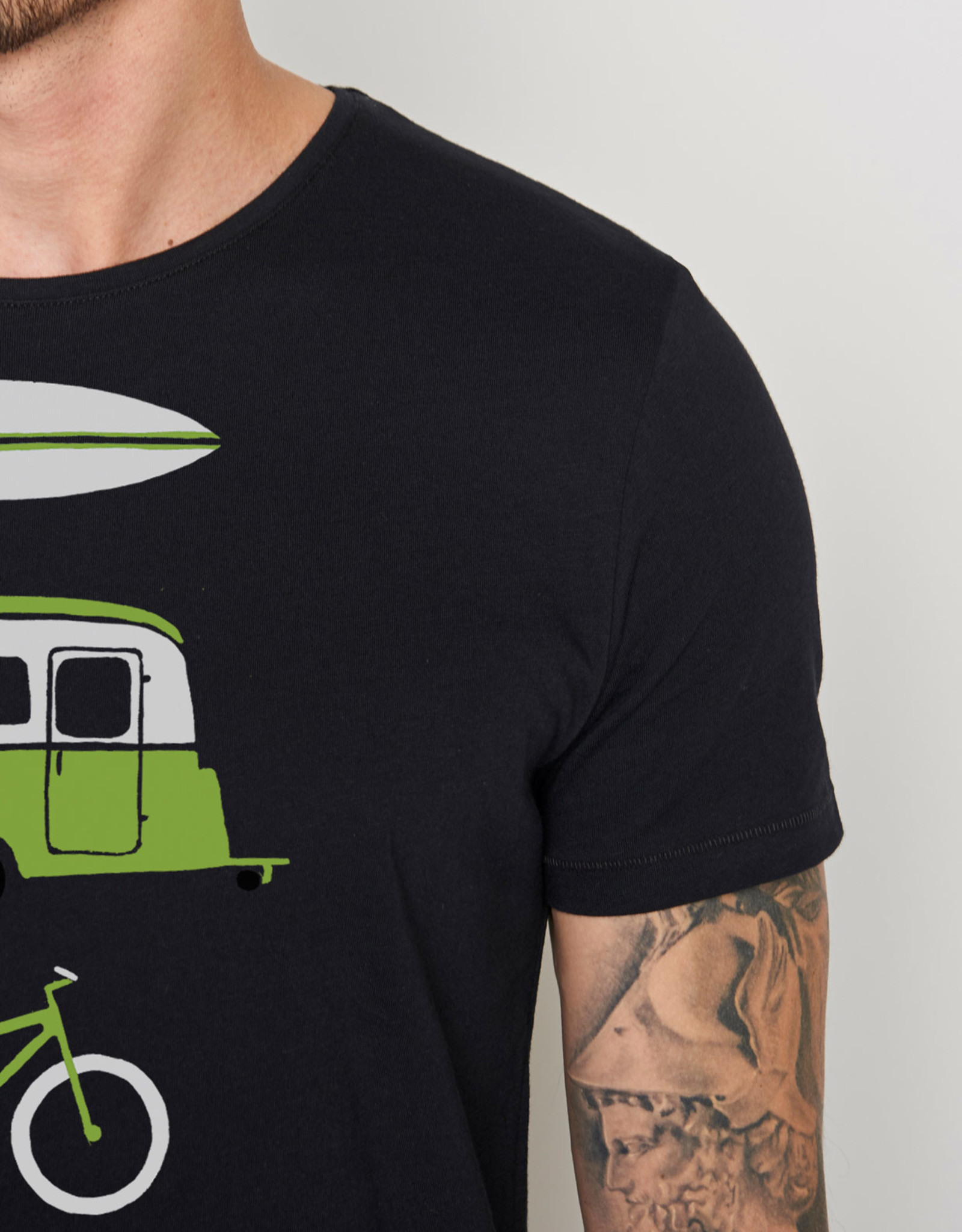 Greenbomb T-SHIRT ADVENTURE NATURE BLACK SPICE