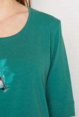 Greenbomb T-SHIRT BIRDIE JUNGLE GREEN DEEP