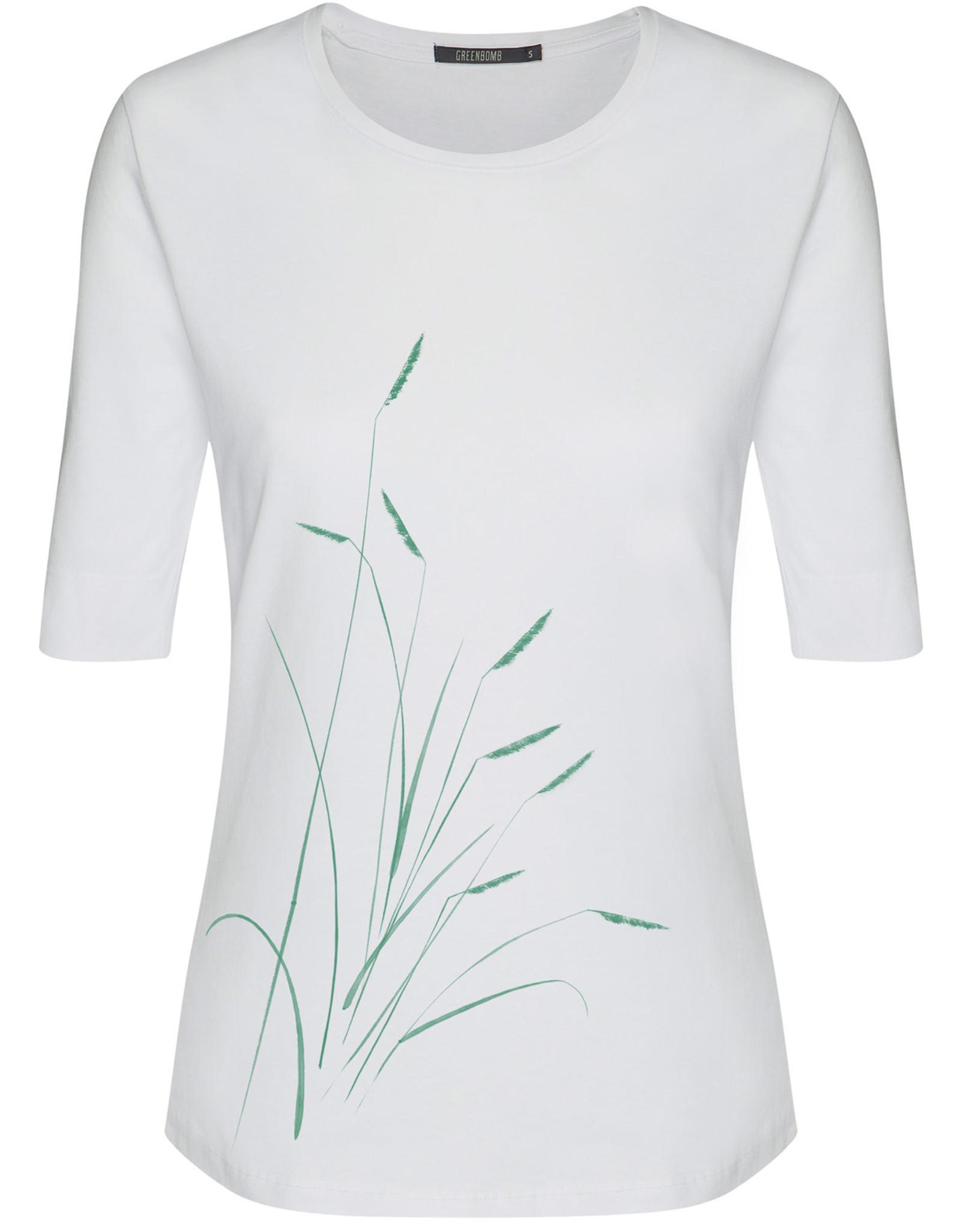 Greenbomb T-SHIRT PLANTS WHITE DEEP