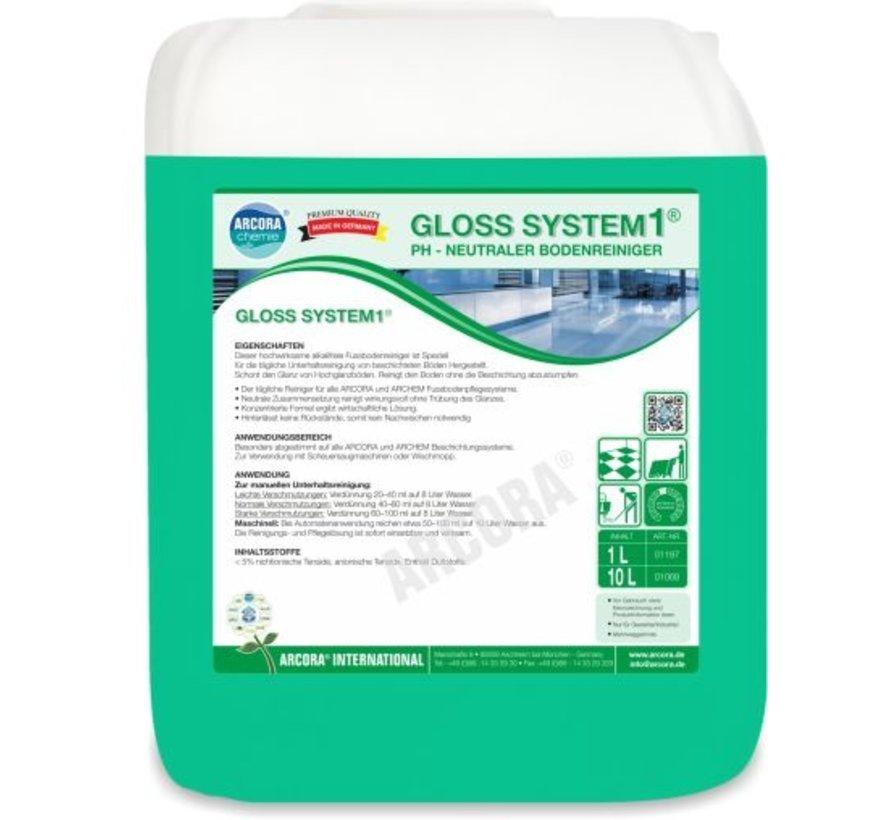Vloerreiniger - GLOSS SYSTEM 10L