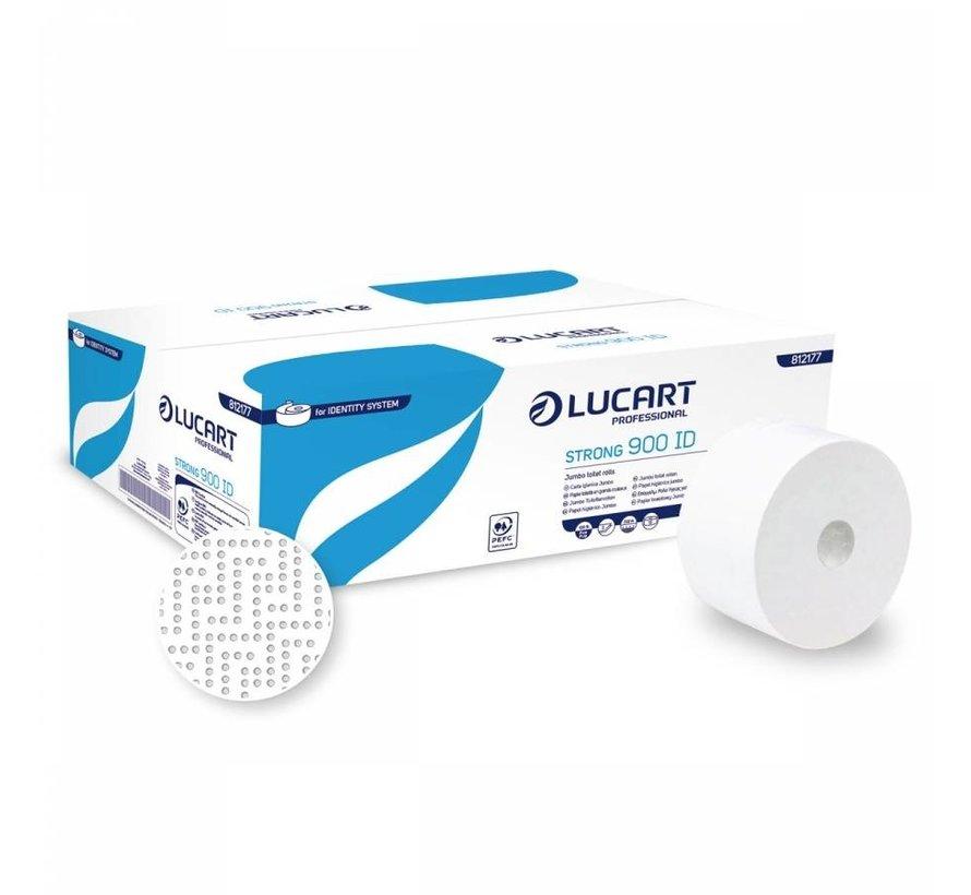 Jumbo Toiletpapier Cellulose Wit 2-laags - 12 rollen