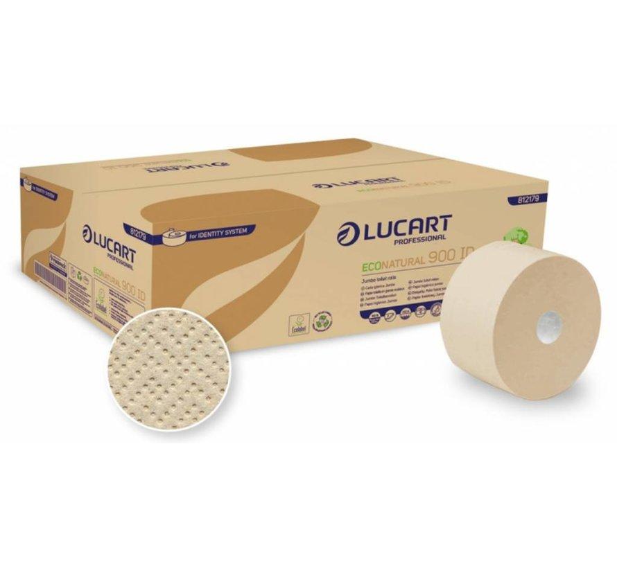 Jumbo Toiletpapier EcoNatural Recycled 2-laags - 12 rollen