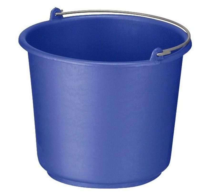 Bouw/glazenwassersemmer standaard diverse kleuren 12L