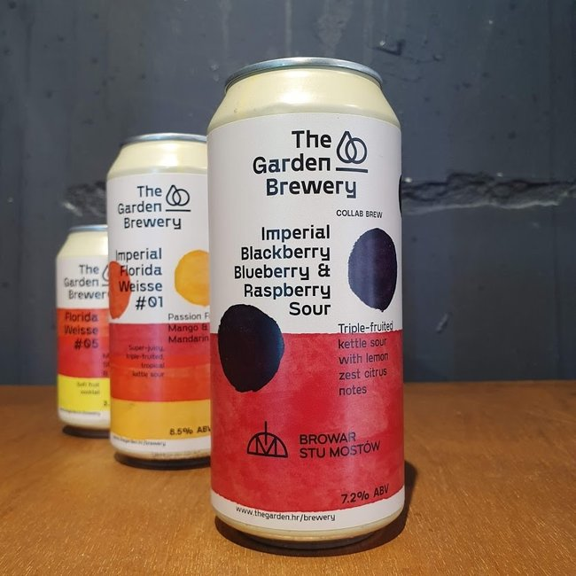 The garden brewery - imperial Blackberry, Blueberry & Raspberry Sour