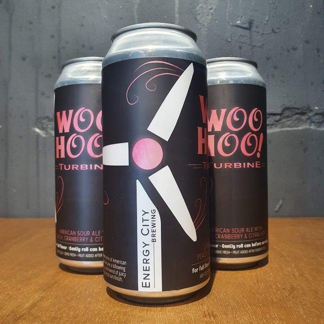 Energy City BC: Woo Hoo! Turbine - Peach & Cranberry