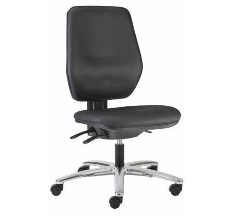 Cleanroom stoel - wielen - hoogte 42/55 cm