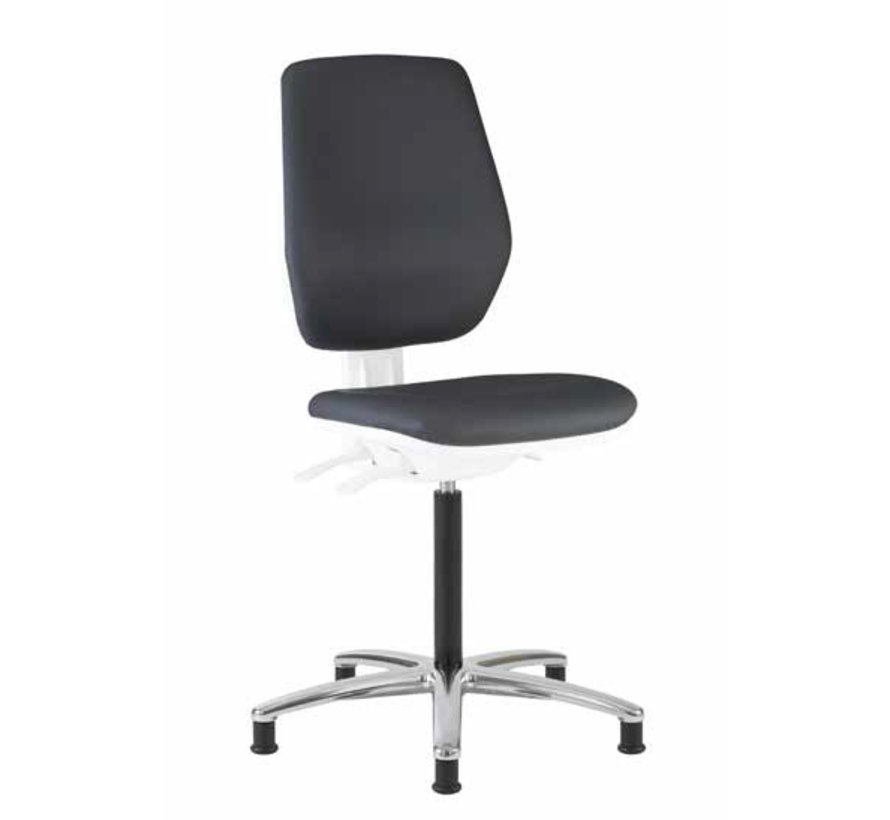 Cleanroom stoel- wit frame - hoogte 50/85 cm (Pro)