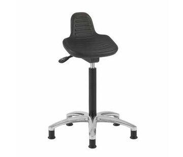 Throna Cleanroom zit-sta stoel -  glijders - hoogte 50/85 cm