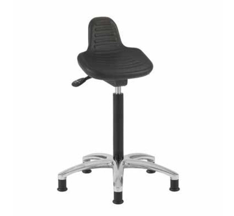 Cleanroom zit-sta stoel -  glijders - hoogte 50/85 cm