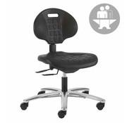 Throna Cleanroom stoel - intensief gebruik -  wielen - hoogte 43/56 cm